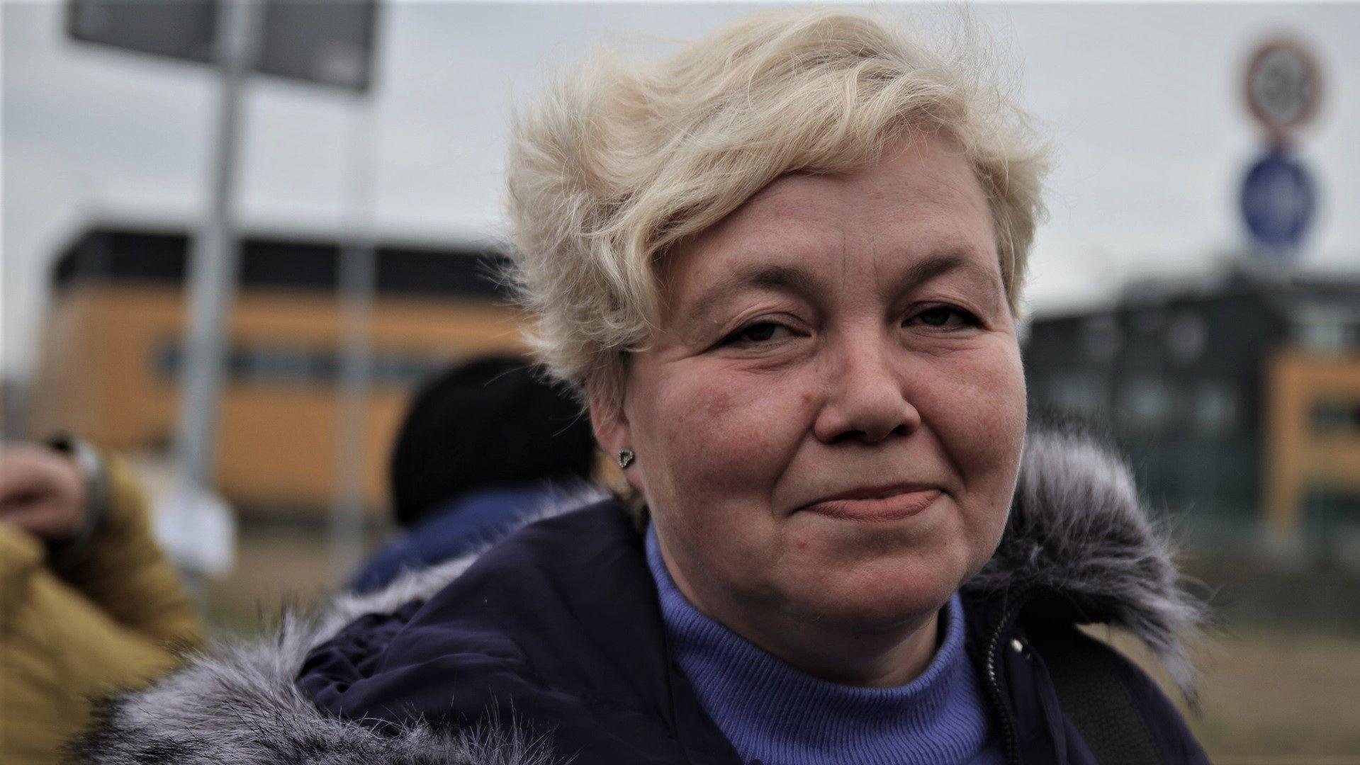 Natalia przyjechała ze Lwowa. Szuka pracy na bazarku w Piasecznie.