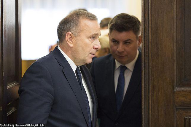 Wybory parlamentarne. Lider PO Grzegorz Schetyna.