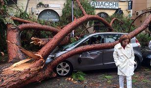 W mieście Terracina wichura spowodowała wiele zniszczeń.