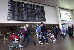 Bruksela - strajk celników na lotnisku