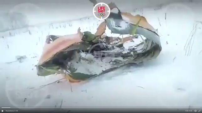Katastrofa rosyjskiego samolotu pod Moskwą. Są pierwsze filmy