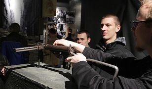 Pistolet maszynowy sten - zdjęcie archiwalne z Nocy Muzeów w Muzeum Powstania Warszawskiego w Warszawie