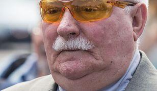 Lech Wałęsa nie może rozstać się z okularami. Nosi je kolejny sezon