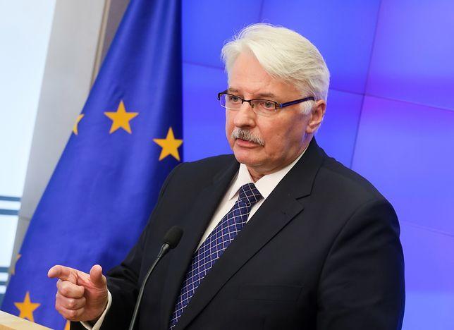 """Witold Waszczykowski tłumaczy się ze swoich słów o """"fałszerstwie"""" ws. Donalda Tuska"""