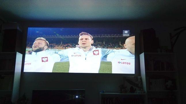 Przy okazji meczu reprezentacji w warunkach domowych udało się uzyskać ekran o rozmiarze 95 cali