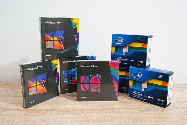 kupiłem 4 pudełka Windows i 3 dyski SSD