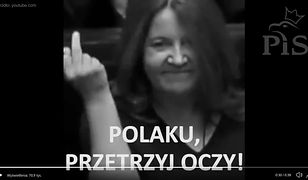 """Joanna Lichocka bohaterką spotu PO. """"Polaku, przetrzyj oczy"""""""