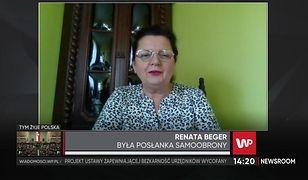 """Renata Beger porównuje się z Jarosławem Kaczyńskim. """"I kto tu ma bardziej prawidłowe podejście?"""""""