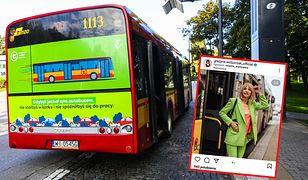 Grażyna Wolszczak zamieściła sponsorowany post dot. komunikacji miejskiej w Warszawie
