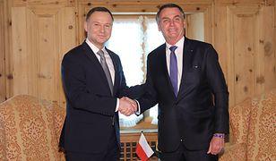 Davos: Andrzej Duda spotkał się z Jairem Bolsonaro. Prezydent Brazylii przyjął zaproszenie do Polski