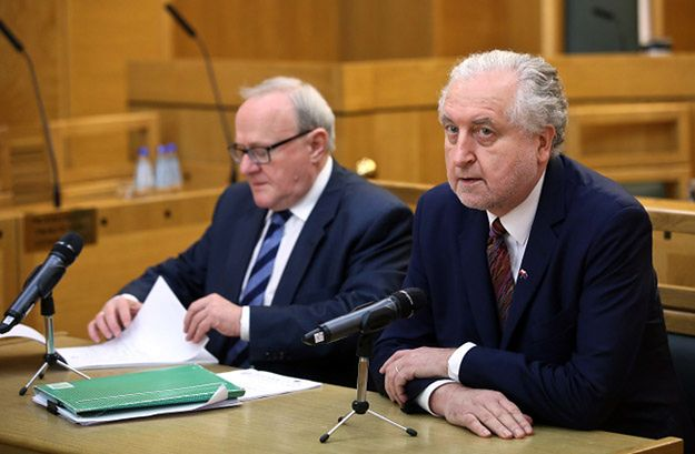 Przewodniczący TK Andrzej Rzepliński oraz wiceprezes TK Stanisław Biernat