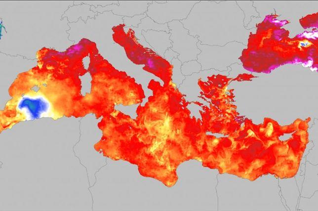 Morze Śródziemne rekordowo ciepłe we wrześniu