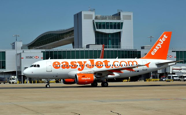 Easy Jet jest jednym z największych przewoźników na lotnisku w Gatwick.