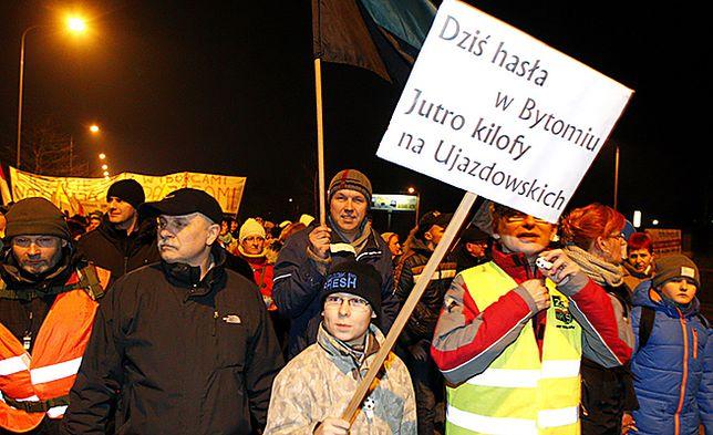 Pikiety i manifestacje przeciwko likwidacji kopalń