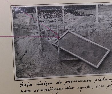 Rafa, czyli sito służące do przesiewania kości i ziemi w poszukiwaniu złota i kosztowności. Milicjanci znaleźli je podczas akcji przeciwko kopaczom w 1958 r. na terenie byłego obozu zagłady w Bełżcu.