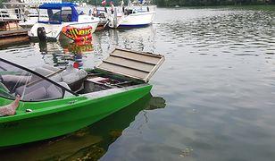 Eksplozja na jeziorze Lubiąż. Musiał się ratować skokiem do wody