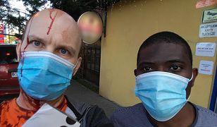 Pan Marek z obywatelem Konga