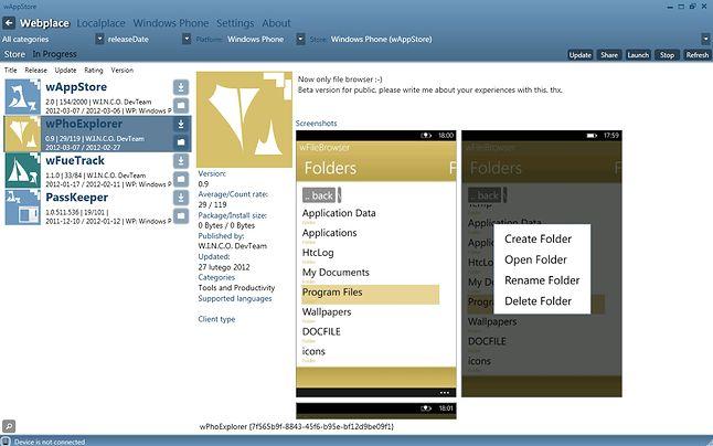 Aplikacja desktopowa - homebrew