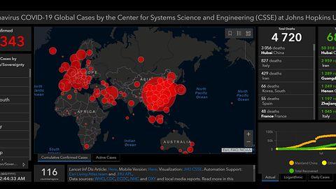 Mapa  zakażeń koronawirusem wykorzystana przez przestępców. Tak żerują na panice