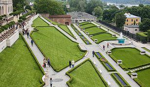 Odtworzony Ogród Górny Zamku Królewskiego w Warszawie