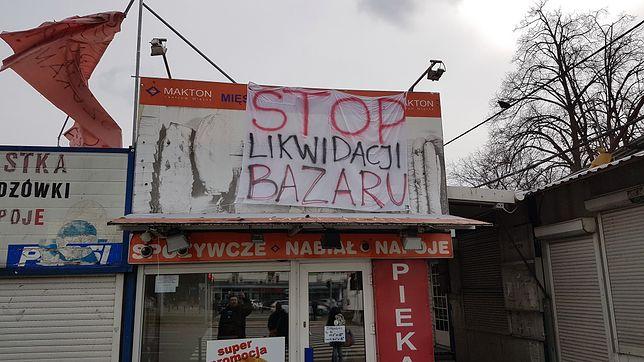 Bazar przy Banacha ostatecznie zamknięty.