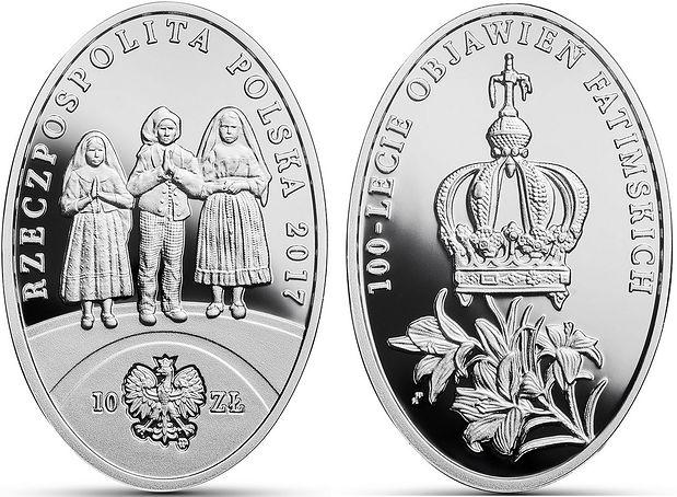 Narodowy Bank Polski uczcił 100-lecie objawień fatimskich. Gratka dla kolekcjonerów