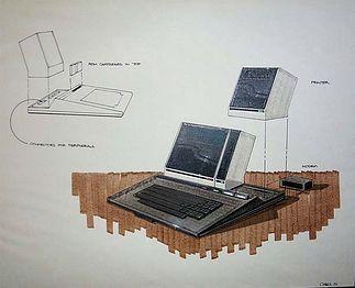 Jedna z wielu koncepcji modułowego komputera Atari (projekt oznaczony jako A300) odnosił się do Atari 1000X. Rys. Regan Chang.