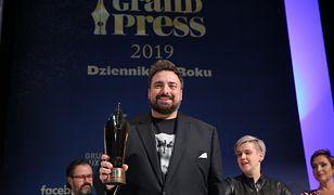 Tomasz Sekielski podczas gali Grand Press 2019