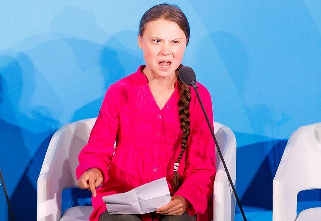 Greta Thunberg na szczycie klimatycznym w Nowym Jorku
