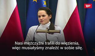"""Swiatłana Cichanouska w Polsce. Wzruszające słowa o mężu. """"Zrobiłam to z miłości"""""""