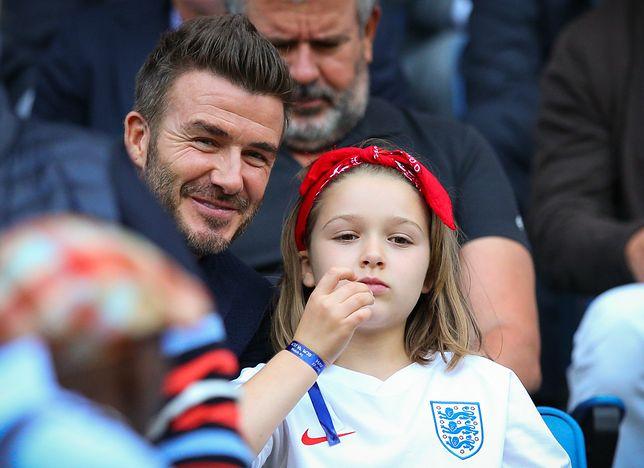 Harper Beckham z Davidem Beckhamem