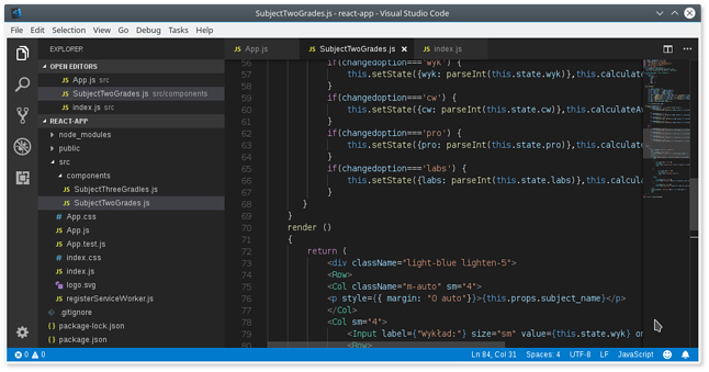 Visual Studio Code w pełnej okazałości