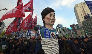 Seul. Marsz domagających się dymisji prezydent Park Geun Hie