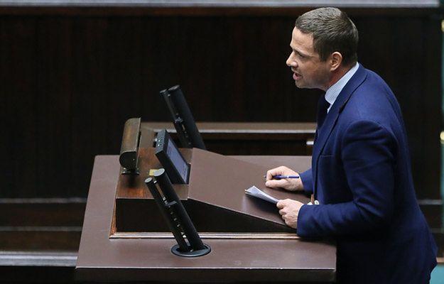 Poseł PO Rafał Trzaskowski przemawia w Sejmie