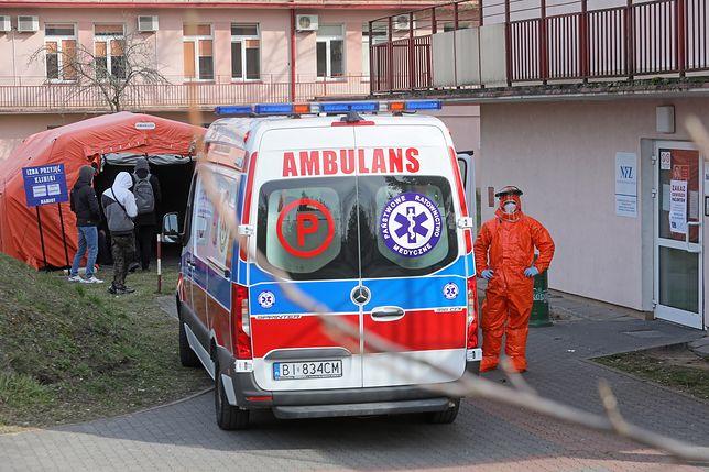 Koronawirus w Polsce. Teren Uniwersyteckiego Szpitala Klinicznego w Białymstoku
