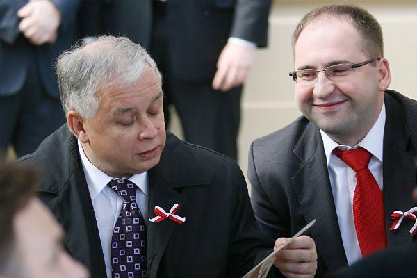Lech Kaczyński i Adam Bielan