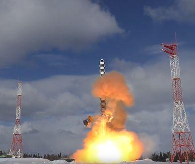 """Rosja: Testy międzykontynentalnej rakiety """"Sarmat"""" [WIDEO]"""