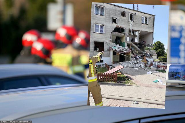 Wybuch w bloku w Safronce / Zdj. OSP Janowiec Kościelny