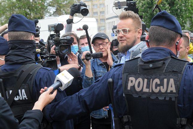 Protest przedsiębiorców. Kandydat na prezydenta Paweł Tanajno zatrzymany