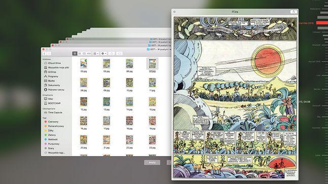 Time Machine umożliwia przywrócenie wszystkich danych albo nawet jednego, konkretnego pliku. W tym wypadku zginęła mi jedna strona z komiksu.