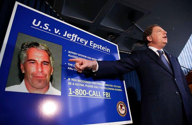 Na plakacie Jeffrey Epstein