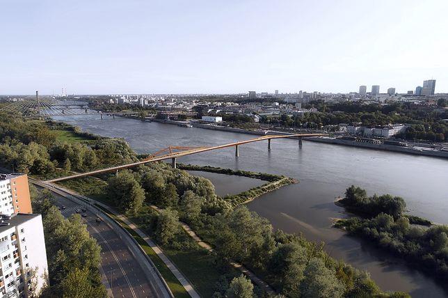 Warszawa. To będzie jedyny taki most na świecie - półkilometrowa przeprawa tylko dla pieszych i rowerów