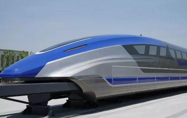 Chiny testują najszybszy pociąg świata - rozpędza się do ponad 600 km/h