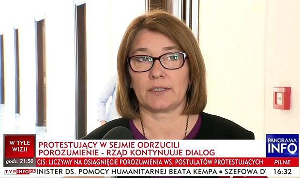 TVP Info przedstawia protestujących w mało korzystnym świetle