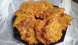 Placki ziemniaczane z mięsem z kurczaka