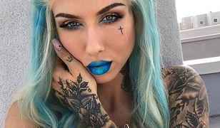 Deynn chwali się nową fryzurą. Niebieskie włosy i usta – takiej jej jeszcze nie widzieliście