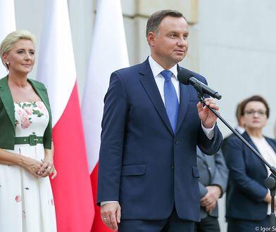 Agata Duda i jej mąż spotkali się z Polonią