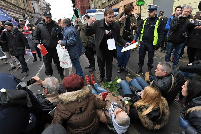 Grupę Obywateli RP spacyfikowała policja