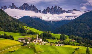 Dolomity zachwycają niezwykłymi krajobrazami