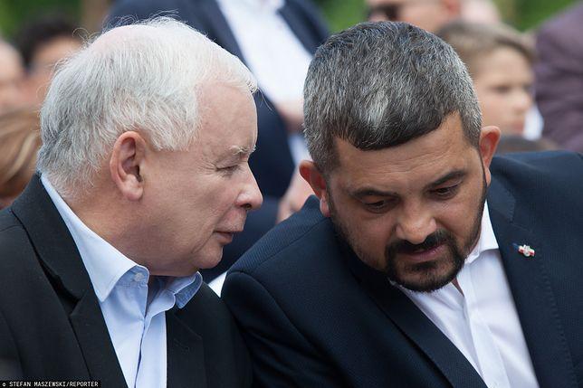 Prezes PiS Jarosław Kaczyński oraz poseł Krzysztof Sobolewski  - zdj. arch.